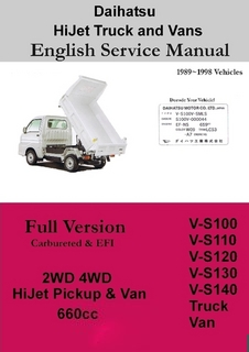 Manuals For Truck 4wd Atv Off Road Daihatsu Hijet Honda